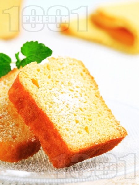 Лесен пухкав маслен кекс без мляко (с бакпулвер) - снимка на рецептата